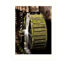 Mill Wheel in Cades Cove Art Print