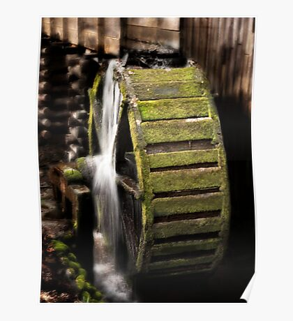 Mill Wheel in Cades Cove Poster