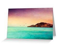 Glowing Mediterran Greeting Card