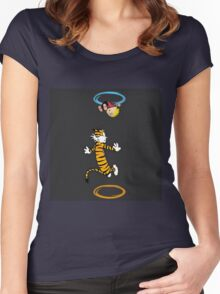 calvin hobbes adventure time Women's Fitted Scoop T-Shirt