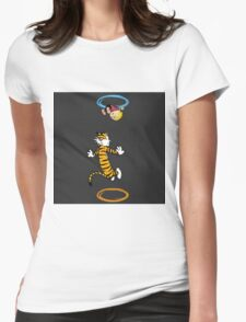 calvin hobbes adventure time Womens Fitted T-Shirt