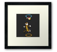 calvin hobbes adventure time Framed Print
