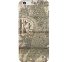 London Map 1730s iPhone Case/Skin