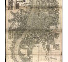 London Map 1730s Sticker