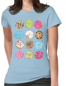 Sweet donuts Womens Fitted T-Shirt