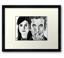 12th Doctor and Clara Framed Print