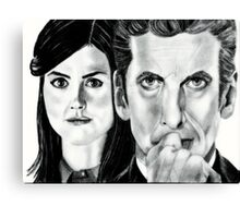 12th Doctor and Clara Canvas Print