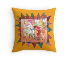 playing in the park Throw Pillow