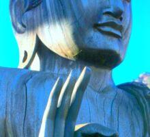 blue buddha meditating Sticker