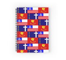 Thrill of the Hunt flag collage Spiral Notebook