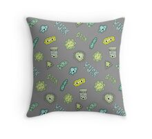 Cute Sick Germs Throw Pillow