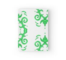 Green motif 2 Hardcover Journal