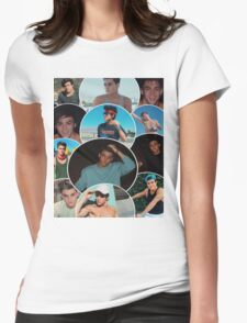 Dolan twins circle collage Womens Fitted T-Shirt