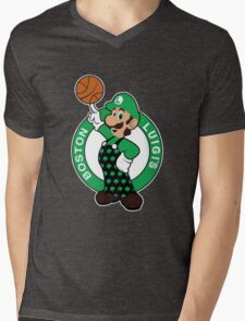 Boston Luigi's Mens V-Neck T-Shirt