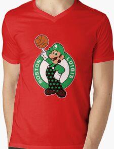 Boston Luigi's Mens V-Neck T-Shirt