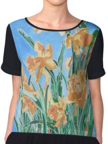Golden Daffodils Chiffon Top