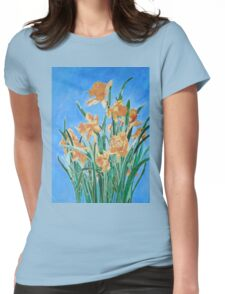 Golden Daffodils Womens Fitted T-Shirt
