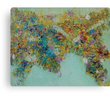 Wordly Flowers Canvas Print