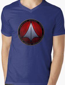 Robotech and logo Mens V-Neck T-Shirt