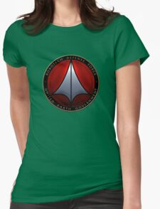 Robotech and logo Womens Fitted T-Shirt