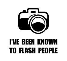 Camera Flash People Photographic Print