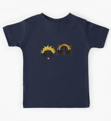 calvin and hobbes sunglasses Kids Tee