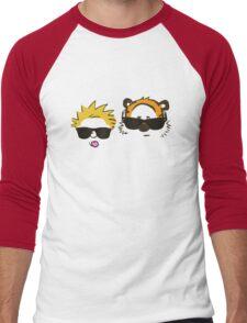 calvin and hobbes sunglasses Men's Baseball ¾ T-Shirt