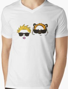 calvin and hobbes sunglasses Mens V-Neck T-Shirt