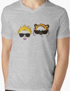 calvin and hobbes sunglasses Mens V-Neck T-Shirt