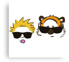 calvin and hobbes sunglasses Canvas Print