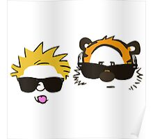 calvin and hobbes sunglasses Poster