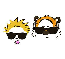 calvin and hobbes sunglasses Photographic Print