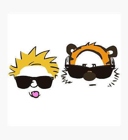 calvin and hobbes sunglasses Photographic Print