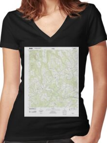USGS TOPO Map Alabama AL Nectar 20111206 TM Women's Fitted V-Neck T-Shirt
