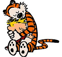calvin and hobbes sleeping Photographic Print