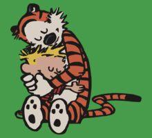 calvin and hobbes sleeping Kids Tee