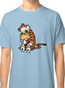 calvin and hobbes sleeping Classic T-Shirt