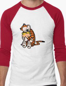calvin and hobbes sleeping Men's Baseball ¾ T-Shirt