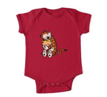 calvin and hobbes sleeping One Piece - Short Sleeve
