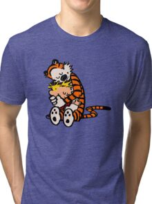 calvin and hobbes sleeping Tri-blend T-Shirt