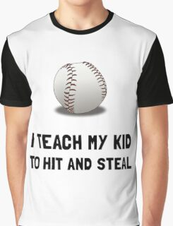 Hit And Steal Baseball Graphic T-Shirt