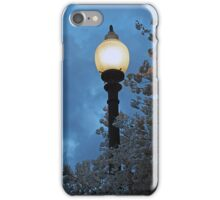 Japanese Cherry Blossoms and Street Lamp iPhone Case/Skin