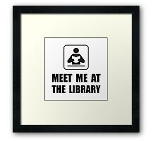 Meet Me At Library Framed Print