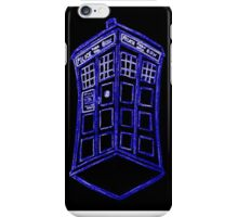 The Tardis Blue Outline iPhone Case/Skin