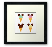 Mickey Scoop Framed Print