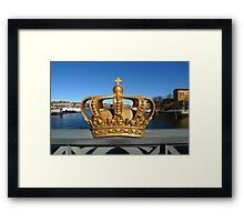 Swedish Royal Crown Framed Print