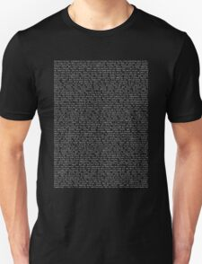 bee movie script 2 T-Shirt