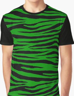 0326 Islamic Green Tiger Graphic T-Shirt