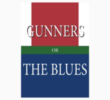 GUNNERS or THE BLUES One Piece - Short Sleeve