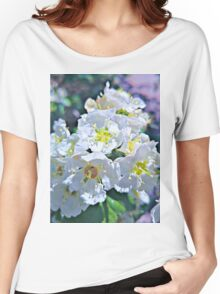 Beautiful White Flowers Women's Relaxed Fit T-Shirt